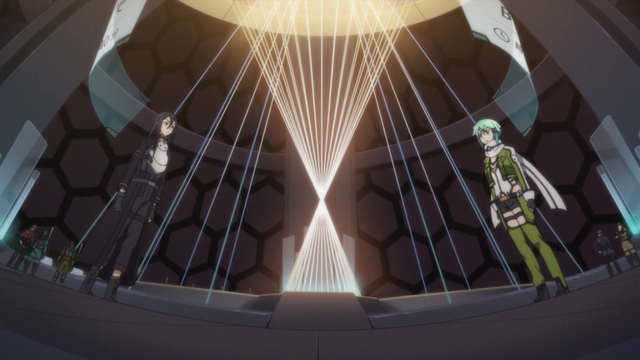 File:Sinon and Kirito facing each other.png