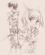 Web novel GGO Kirito and Sinon
