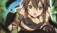 HF Full Guide Sinon lying on Kirito after a crow attack sketch