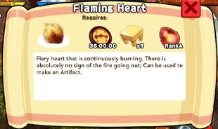 Flaming Heart Text