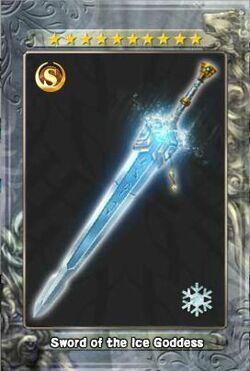 Sword of the Ice Goddess New