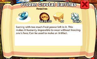 Frozen Crystal Earrings Text