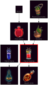 ResearchTree Vial of healing