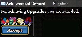 Upgrader achievement reward