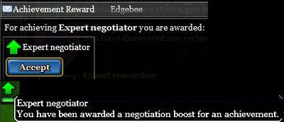 Expert negotiator reward
