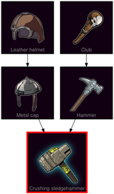 ResearchTree Crushing sledgehammer