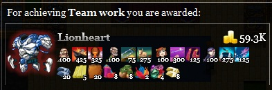 Lionheart achievement Team work