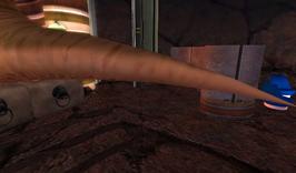 Quarko's large tail