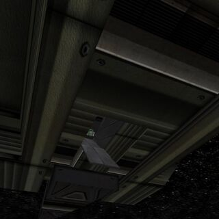 An MR2 unit visible from inside the Hermit's boarding hatch