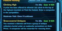 Treasure Hunting missions