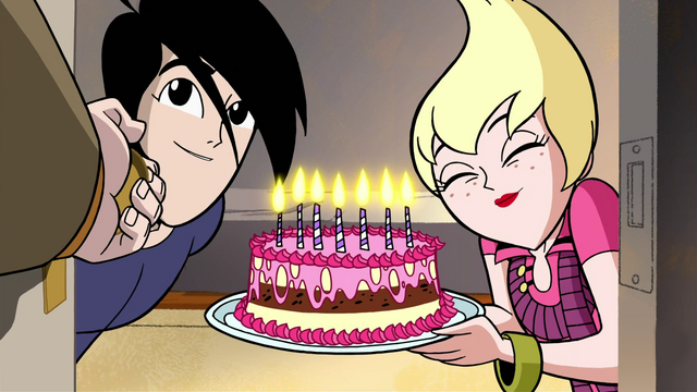 File:Ilana and Lance surprise Octus with a Happy Birthday Cake in A Family Crisis.png