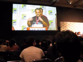 Genndy Tartakovsky talks at San Diego Comic-Con (2010) about his new show Sym-Bionic Titan.png