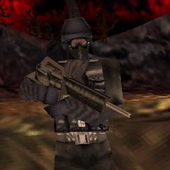 Elite using an M16