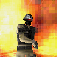 Grenade throwing terrorist