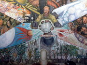 Palacio de Bellas Artes - Mural El Hombre in cruce de caminos Rivera 3
