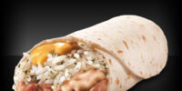 Cheesy Bean and Rice Burrito