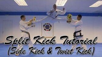 Taekwondo Split Kick Tutorial (Scissor Kick Version)