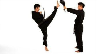 How to Do a Jump Front Kick Taekwondo Training