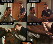 Taken 3 meme poster- fighting off police officers in stylized fashion