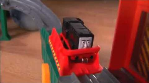 Speelgoedstunter - Fisher-Price Thomas and Friends Take-n-Play Diesel Playset..flv