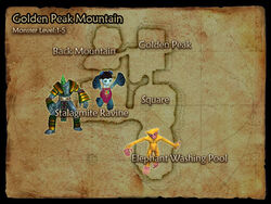 Golden Peak Mountain map