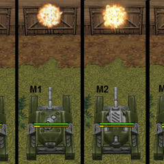 The different impact animations of the different Smoky versions