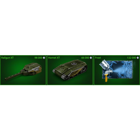 Railgun XT in the garage, along with the other holiday items of the 2014-15 holiday events.