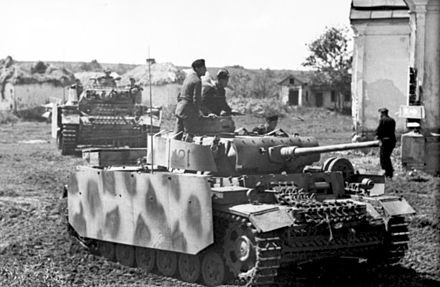 """File:A Panzer III with spaced armor on. Also known as """"side skirts"""".jpg"""