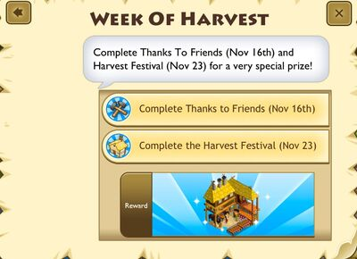 Week of harvest