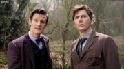 Eleventh Doctor Meets The Tenth Doctor - Doctor Who - Day of the Doctor - BBC