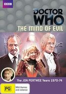 Doctor Who The Mind of Evil DVD Region 4 Australian cover