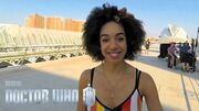 Doctor Who Behind the scenes in Valencia with Pearl Mackie - Smile - Series 10 Episode 2 - BBC One