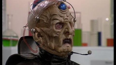 The Doctor & Davros meet again - Doctor Who - Ressurrection of the Daleks - BBC