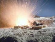 Antarctic base explodes