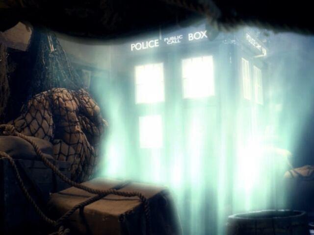 "File:The TARDIS gets ""towed"".jpg"