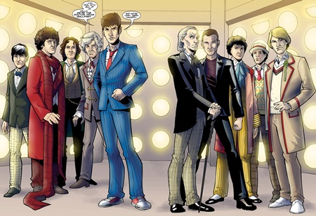 File:The Doctor's ten incarnations appear together.jpg