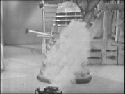 Dalek killed by Doctor box The Chase-6
