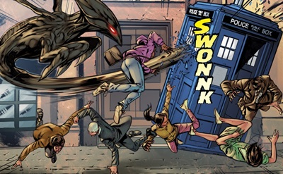 File:Four Doctors Issue 2 Raptor Stabs TARDIS shell.jpg