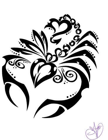 File:Scorpio tribal by exceptional jennalee-d4j7zzq.jpg