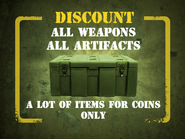 All weapons, all artifacts discount