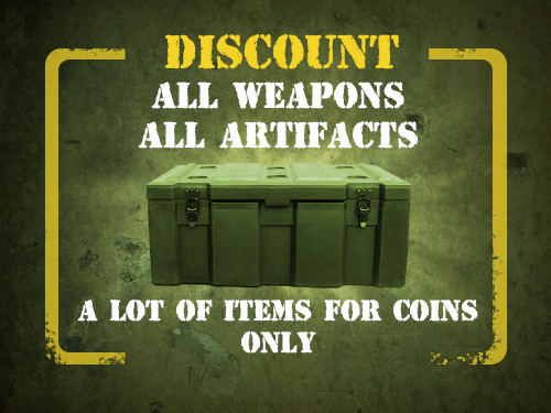 File:All weapons, all artifacts discount.png