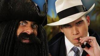 Blackbeard vs Al Capone. Epic Rap Battles of History Season 3.-0