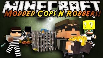 Minecraft Mini-Game MODDED COPS N ROBBERS! LUCKY BLOCKS!