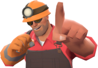 Engineer with the Mining Light TF2