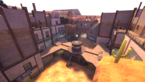 Gullywash overlooking a control point TF2