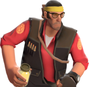 Sniper with the Master's Yellow Belt TF2