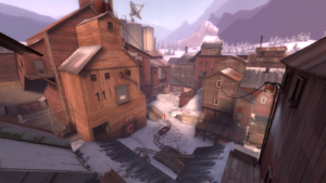 Barnblitz overlooking a payload checkpoint TF2