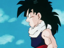 Gohan noticing the Z-Fighters and androids leaving