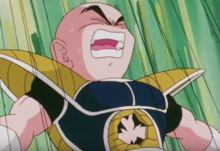 Krillin being killed by Freeza