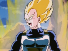 Vegeta talking to Android 20